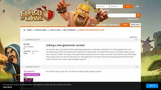 Linking a new gamecenter account - Supercell Community Forums
