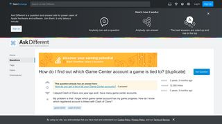 clash of clans - How do I find out which Game Center account a ...
