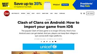 Clash of Clans on Android: How to import your game from iOS - CNET