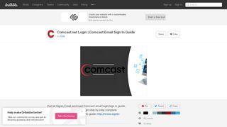 Comcast.net Login | Comcast Email Sign In Guide by Cris | Dribbble ...
