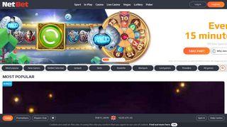 NetBet Casino: Online Casino Games | £200 Bonus