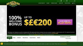 GoldenPalace.com Online Casino