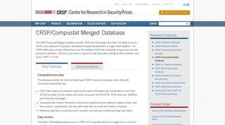 CRSP/Compustat Merged Database   CRSP - The Center for ...