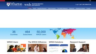Wharton Research Data Services   WRDS