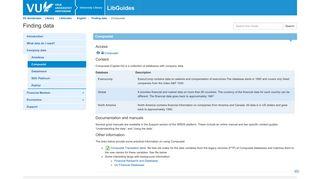 Compustat - Finding data - LibGuides at VU Amsterdam