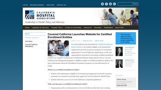 Covered California Launches Website for Certified Enrollment Entities ...