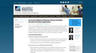 Covered California Releases Online Certified Enrollment Entity ...