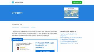 Craigslist - How to Post, US Price List, Free Posting, FAQs - Betterteam