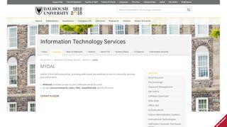 myDal - Information Technology Services - Dalhousie University