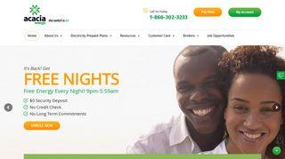 Acacia Energy: Prepaid Electricity Texas - Prepaid Energy Company ...