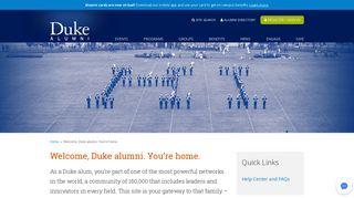 Welcome, Duke alumni. You're home. | Duke