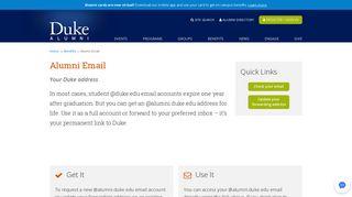Alumni Email | Duke