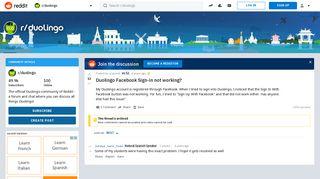 Duolingo Facebook Sign-in not working? : duolingo - Reddit