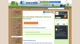 Be an Eco-Leader! - Eco-Cycle
