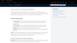 Signing Up for Paperless Billing - Xfinity