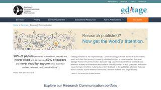 Manuscript Editing Services by Scientific Publication Experts ... - ASHA