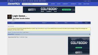 Login Queue... - The Elder Scrolls Online Message Board for PC ...