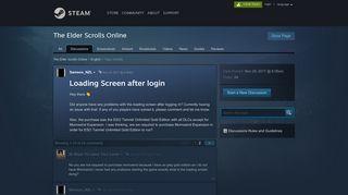 Loading Screen after login :: The Elder Scrolls Online English