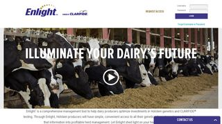 Enlight - Log-in to Holstein Genetic Dashboard