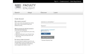 User account   FacultyEnlight