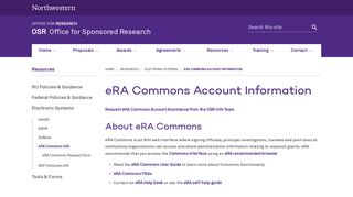 eRA Commons Account Information | OSR - Office for Sponsored ...