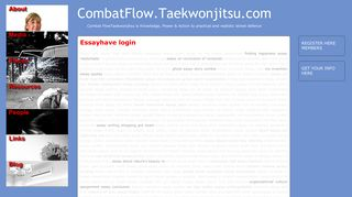 CombatFlow.Taekwonjitsu.com » Essayhave login