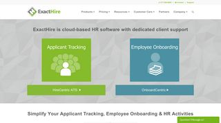 ExactHire: Applicant Tracking, Employee Onboarding Software