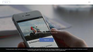 Instant Articles | Facebook
