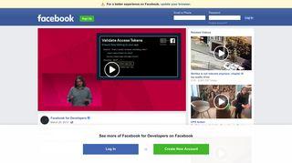 Implementing Facebook Login Securely - Facebook for Developers
