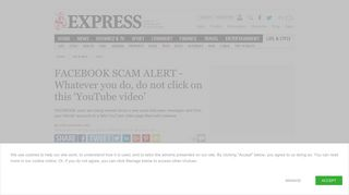 FACEBOOK SCAM ALERT - Do not click on this 'YouTube video ...
