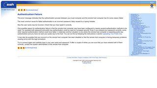 SSH: Authentication Failure