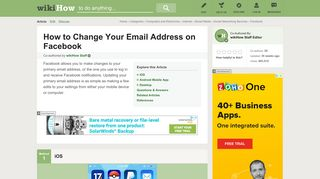 3 Ways to Change Your Email Address on Facebook - wikiHow