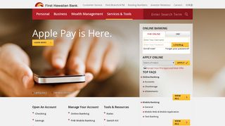 Online Banking Services - First Hawaiian Bank