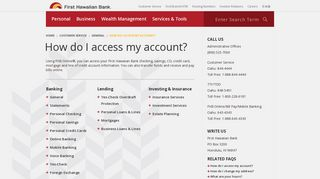 How do I access my account? - First Hawaiian Bank