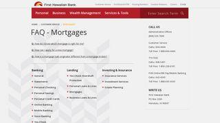 FAQ - Mortgages - First Hawaiian Bank