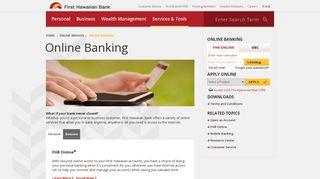 Online Banking - First Hawaiian Bank