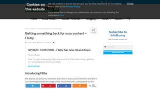 Fliiby - Getting something back for your content - Flii.by - InfoBunny