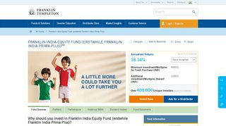 Franklin India Equity Fund (erstwhile Franklin India Prima Plus ...