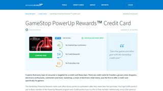 GameStop PowerUp Rewards™ Credit Card - RewardExpert.com