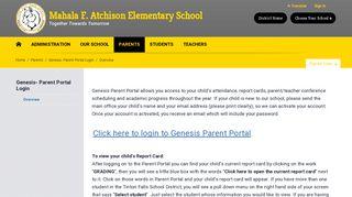 Genesis- Parent Portal Login / Overview - Tinton Falls School District