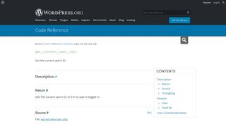 get_current_user_id() | Function | WordPress Developer Resources