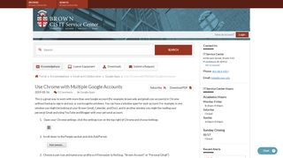 Use Chrome with Multiple Google Accounts - Knowledgebase / Email ...