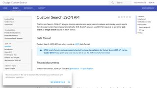 Custom Search JSON API | Custom Search | Google Developers