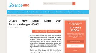 OAuth: How Does 'Login With Facebook/Google' Work? » Science ABC