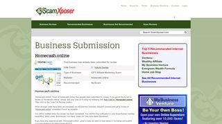 Homecash.online a Scam? - ScamXposer