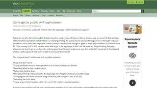 Can't get to public wifi login screen | Ask MetaFilter