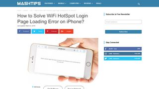 How to Solve WiFi HotSpot Login Page Loading Error on iPhone ...