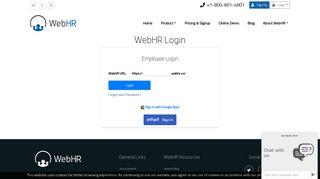 WebHR   Online Login