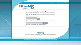 HR Web Connect | Secure Online Communication | Employee Benefits ...