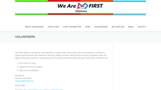 Volunteers - FIRST Robotics Competition